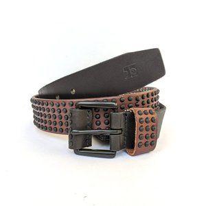 NWT JOE'S Jeans Black Brown Studded Leather Belt